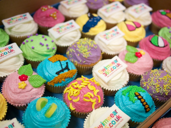 Swimwear365 cupcakes